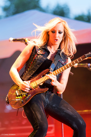 Nita Strauss with Alice Cooper
