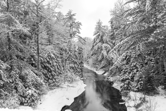 Upper Peninsula River in Winter