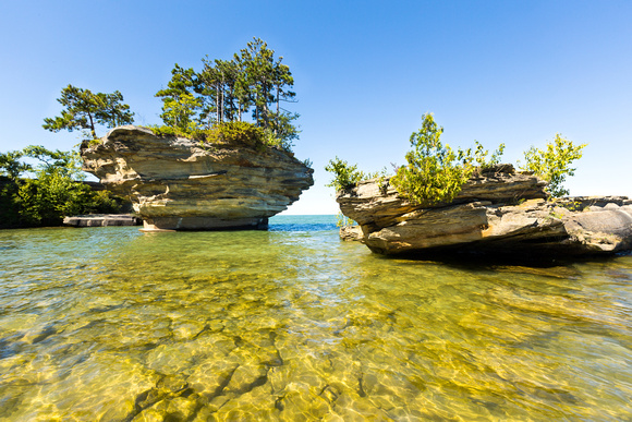 Turnip Rock on Lake Huron