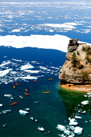 Kayaking at Miners Castle - Pictured Rocks National Lakeshore - Michigan