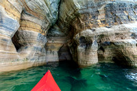 Kayak in Sea Cave under Miners Castle UP-444 9Q4A2522