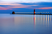 Grand Haven Pier at Night