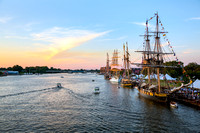 Tall Ships at Sunset - Bay City, Michigan