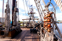 Deck view of El Galeón