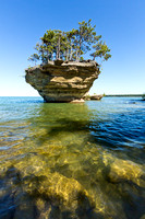 Underwater View of Turnip Rock - Port Austin