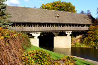 Frankenmuth Covered Bridge in Autumn