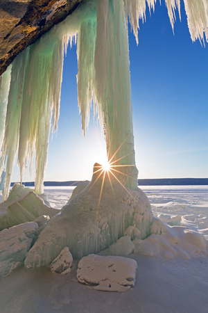 Sunstar and Ice Curtains