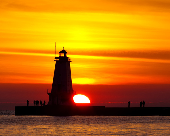 North Breakwater Ludington Lighthouse