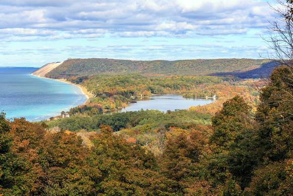 South Bar Lake & Lake Michigan from Empire Bluff Trail
