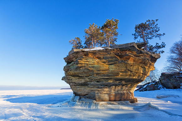 Turnip Rock in Winter