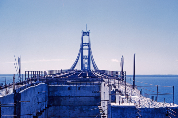 Mackinac Bridge Construction 1957