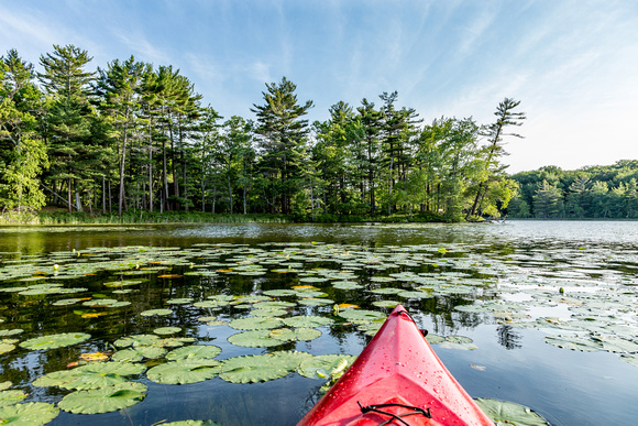 Kayaking on Lost Lake - Ludington