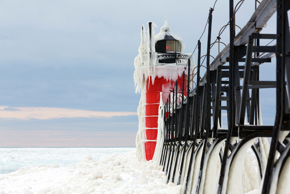 South Haven Light on Ice!