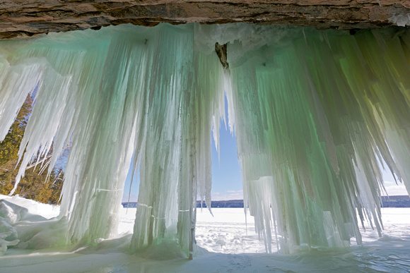 Grand Island Ice Curtains - Lake Superior