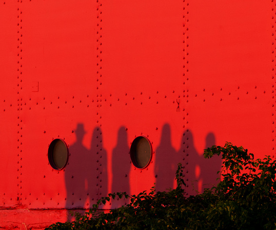 Silhouettes on Big Red