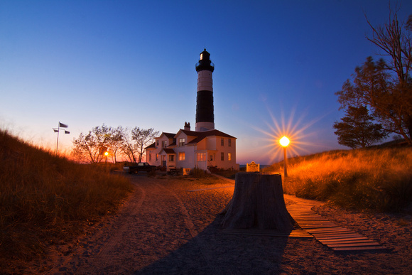 Big Sable Lighthouse at Night