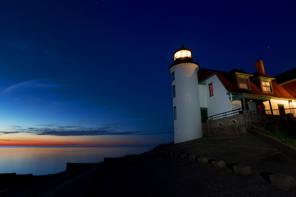 Point Betsie Lighthouse at Night - Frankfort Michigan