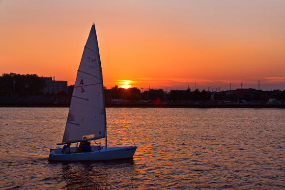 Sailing on the Saginaw River
