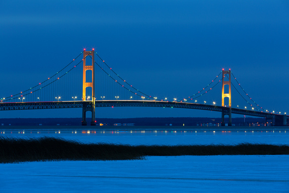 Mackinac Bridge at Night