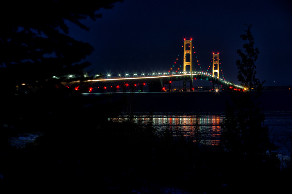 Night Time at the Mackinac Bridge