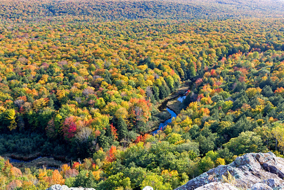 Vibrant Autumn in Michigan's Porcupine Mountains