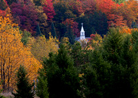 Church Spire in Autumn