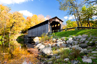 Fallasburg Covered Bridge in Autumn - Lowell, Michigan