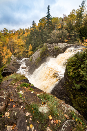 Gabbro Falls in Autumn - Vertical