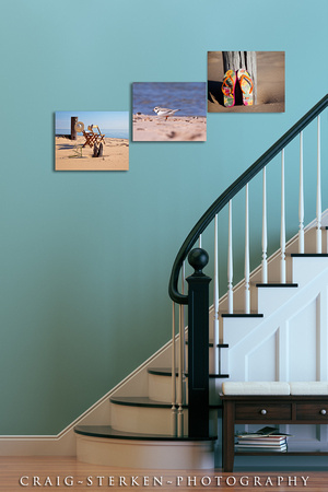 Grouping canvases together is a great decorating idea