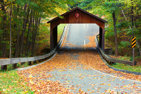 Wooden Covered Bridge on Pierce Stocking Scenic Drive