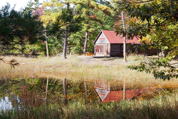 Log Cabin in the Woods at Sleeping Bear Dunes National Lakeshore