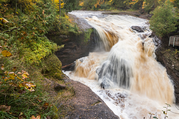 Rainbow Falls in Autumn - Black River