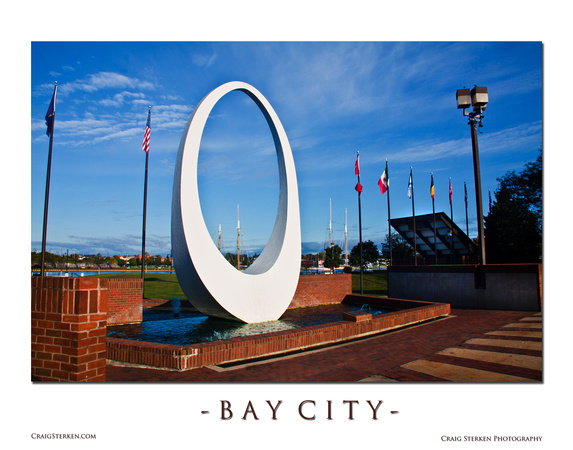 Downtown Bay City Waterfountain